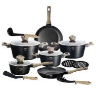 BERLINGER HAUS  BH-1536 15 pcs cookware set, Ebony Maple Collection