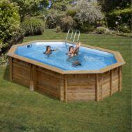 PONTAQUA TIMBER ovális fa medence 5,5 x 3,5 x 1,2 m Fából készült medencék FFA 952