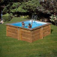 PONTAQUA TIMBER szögletes fa medence 3,0 x 3,0 x 1,19 m Fából készült medencék FFA 953