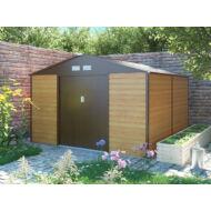 Kerti ház fém kerti tároló Yesway 1085 - 340 x 319 cm, barna
