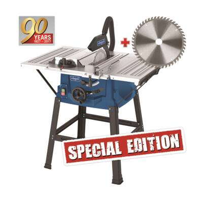 Scheppach HS 100 S Special editionasztali körfűrész + fűrészlap 48 f.+Ajándék kedvezmény