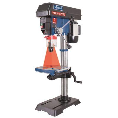 Scheppach DP 18 VARIO -állványos fúrógép lézeres özpontontosítással