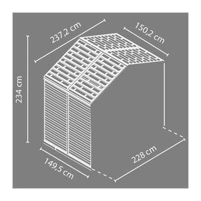Palram Skylight 8x4 szürke - bővítő elem