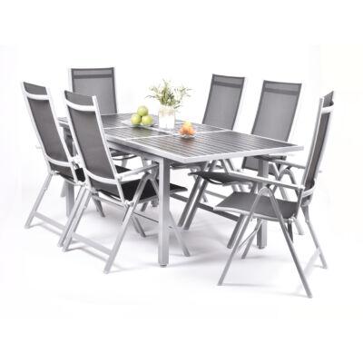 Garland Astonia 6+ Aluminium bútorkészlet ( 1X Astonia asztal + 6X Astonia szék)