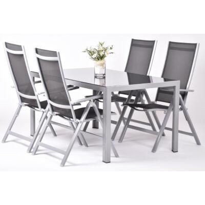 Garland Avalis 4+ - Aluminim bútorkészlet (1X Avalis asztal + 4X Avalis szék)