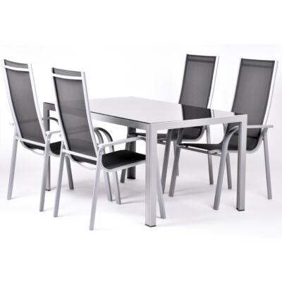 Garland Edina 4+ Aluminium bútorkészlet (1X Edina asztal + 4X edina szék)