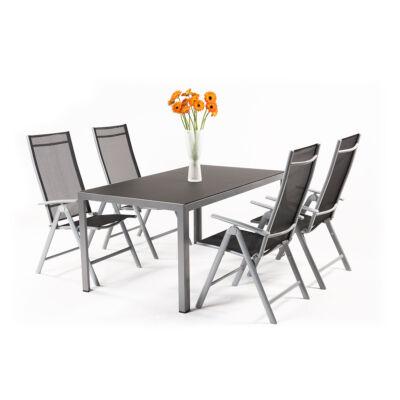 Garland Remus 4+ - Aluminium bútorkészlet (1XRemus asztal + 4X Remus szék)