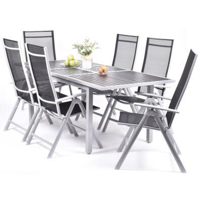 Garland Remus 6+ - Aluminium bútorkészlet (1X Remus asztal + 6X Rumulus szék)