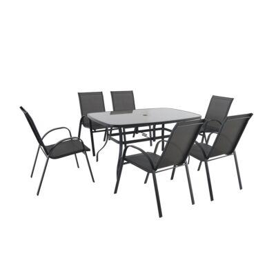 GARLAND/CREADOR Verona 6+garnitúra (6x szék + 1x asztal)