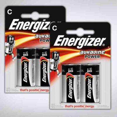 Tartós C elem (4 db) - Energizer Alkaline Power C elem, 4 db