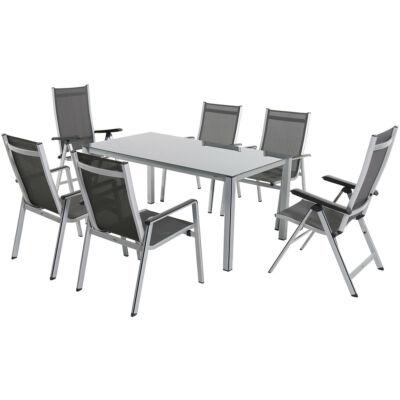 Garland  Elements 6+ Aluminium bútorkészlet (1X Elements asztal + 6X Elemets szék)