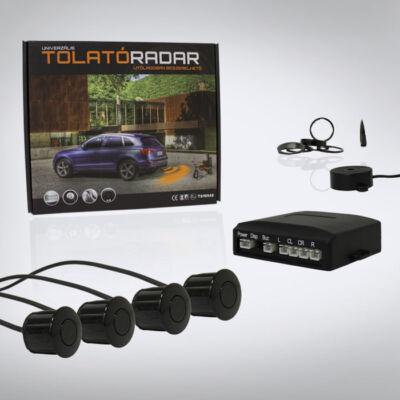 Hangszórós tolatóradar - 4 szenzorral, fekete