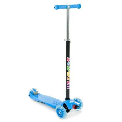 Háromkerekű világító maxi roller, kék