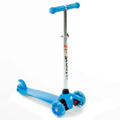 Háromkerekű világító roller, kék